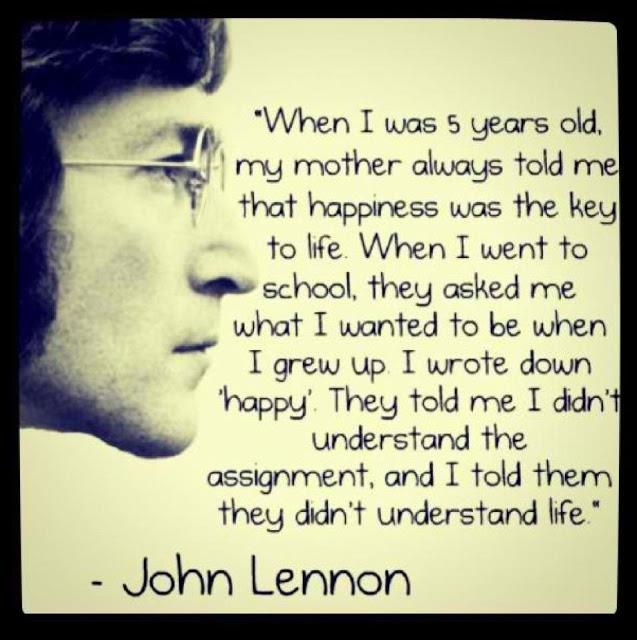 On happiness...